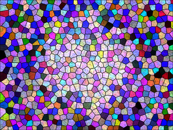 Colours 8: A series of digital abstract paintings with a stained glass effect.
