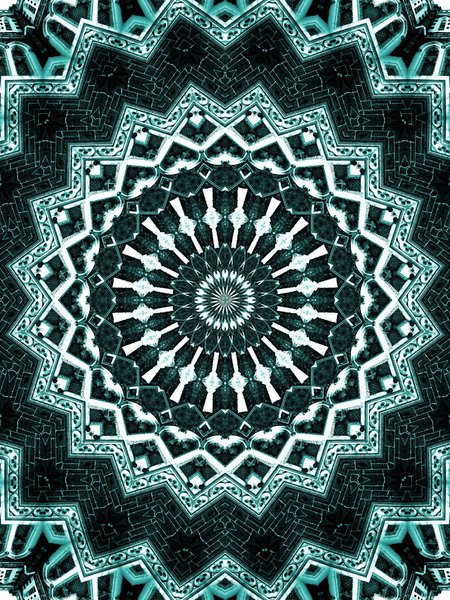 arabesque green: abstract backgrounds, textures, patterns, geometric patterns, kaleidoscopic patterns, circles, shapes and  perspectives from altering and manipulating images