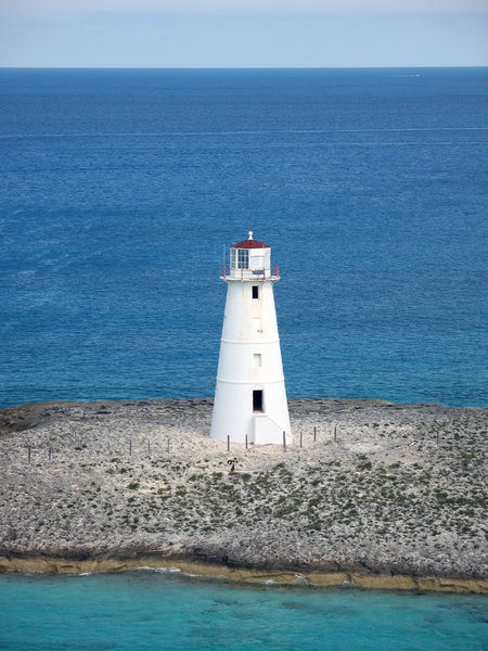 Lighthouse: A lighthouse in the Caribbean.