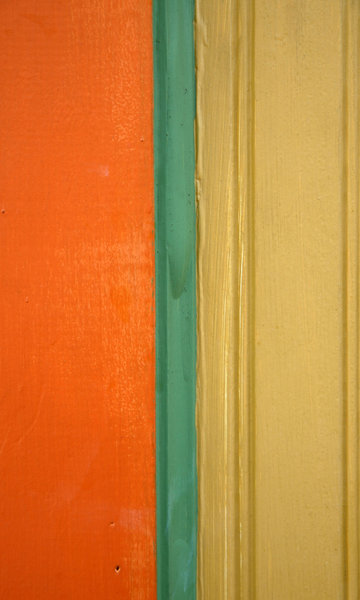 Painted Wood: A painted wood door frame.