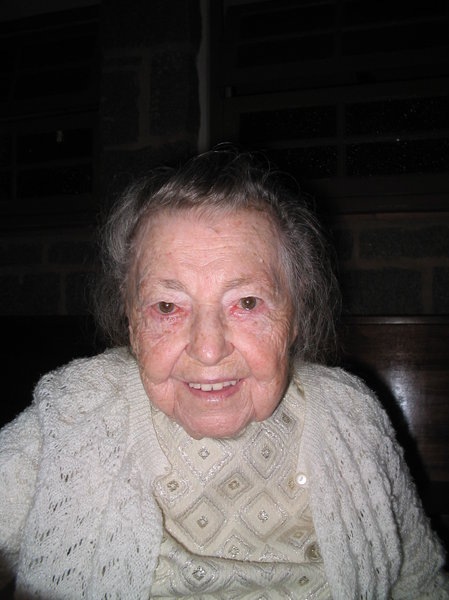 Old woman: She is Amália Goerl and is almost 100.