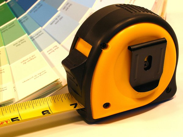 Home repair: Measuring tape for home repair