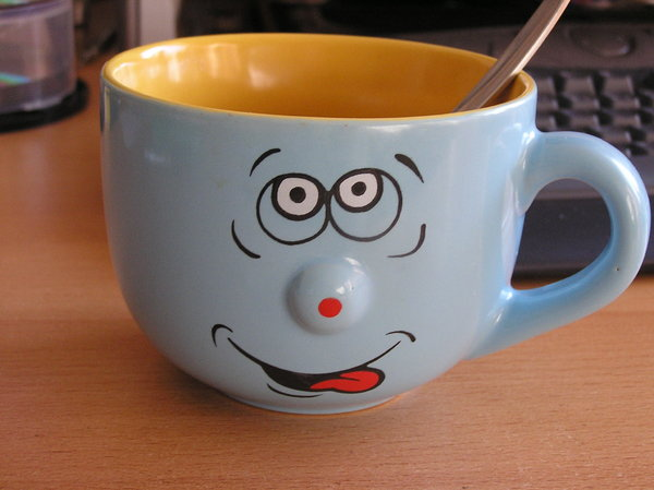 smiling mug: but empty...