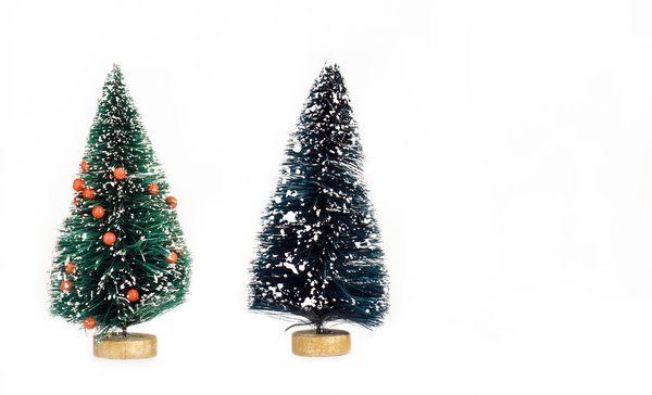 Christmas trees: miniature Christmas trees