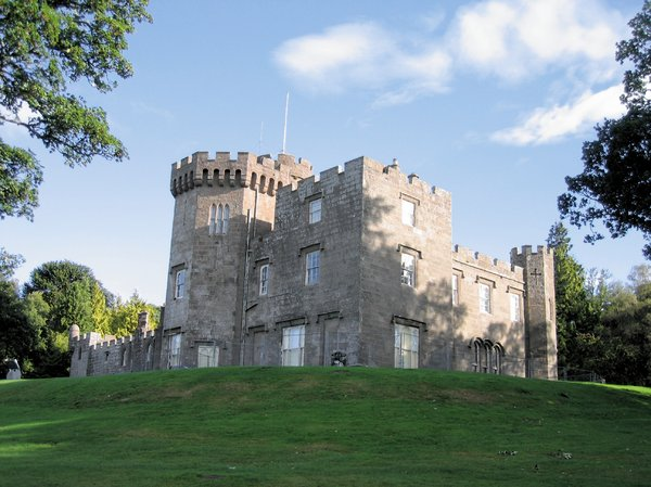 balloch castle: balloch castle, scotland  - The castle was built as a residence in 1808 by the architect Robert Lugar at the order of John Buchanan of Ardoch. The building is an early example of the Scottish baronial style popular in the 19th and early 20th centuries. Details: