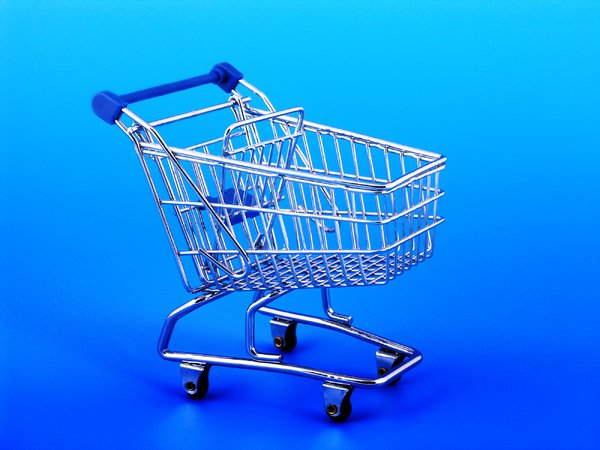 trolley: trolley on blue background