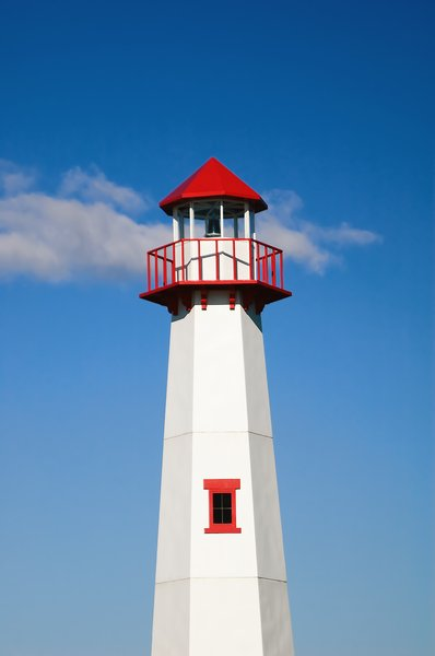 St Ignace Lighthouse: The lighthouse in St Ignace, Michigan.