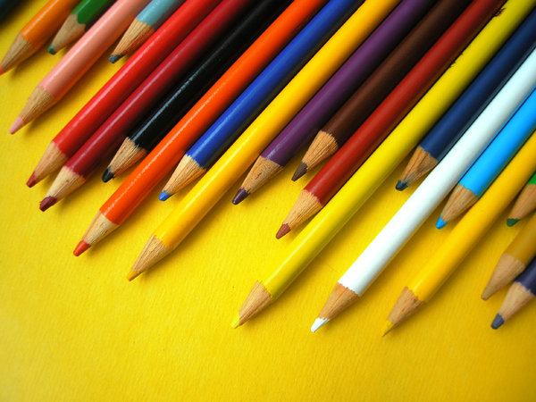 Colored Pencils: Colored pencils