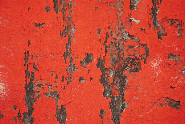Red grunge: peeled paint