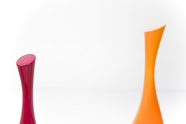 abstract  in pink and orange: two  colorful shapes
