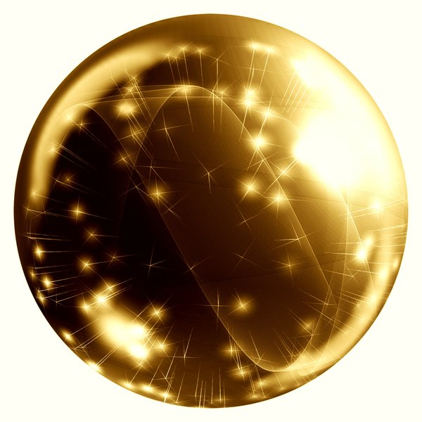 Abstract Bauble 2: A sphere, ball or orb with internal stars, fireworks and webs. Can be used for web buttons or xmas decorations, etc.