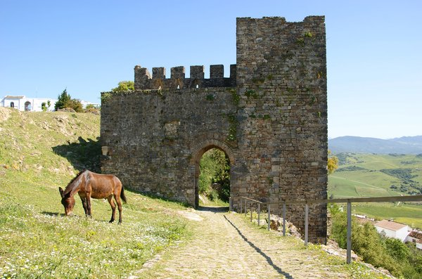 Ancient gate: Jimena de la Frontera, Andalucia, Spain.