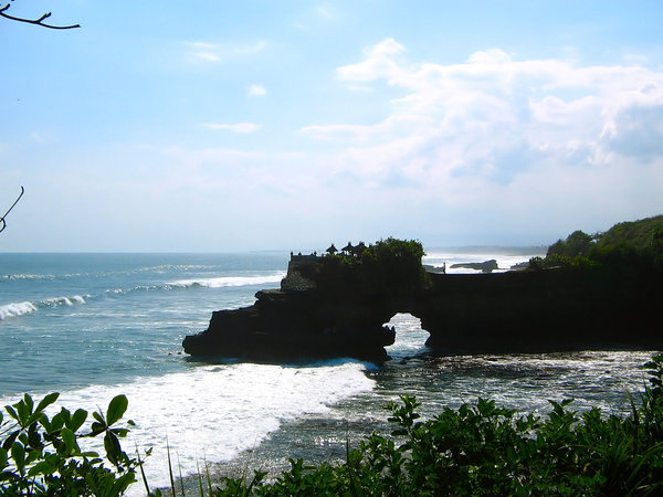 Coastline with Balinese temple: Coastline with a few Balinese temples, Tanah Lot, Bali, Indonesia.