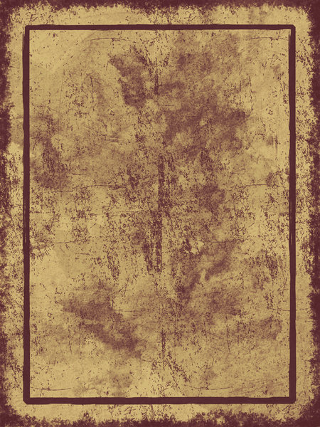 Parchment Border 2: Grungy parchment background illustration with border.