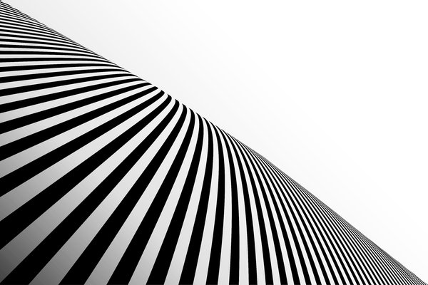 Black Striped Perspective 1: Black stripes on a white background
