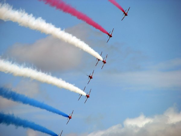 Smoking: red arrows
