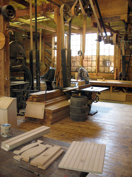 Woodworking Shop: A woodworking shop.