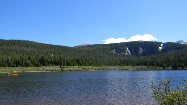 Canoe on Brainard Lake, CO: Some photos of a canoe taken at the Brainard Lakes recreation area.