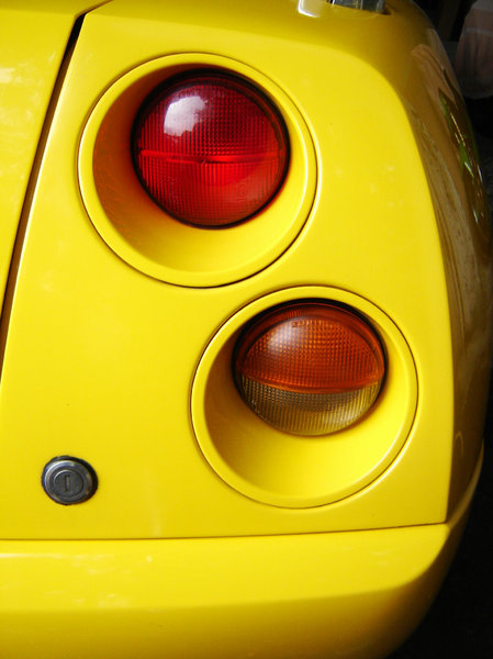 yellow italian car: little dream in the street