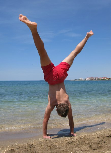 beach gymnastics: none