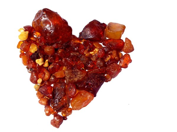 Amber heart: Amber from Denmark
