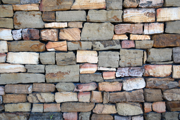 Stone Wall: A wall made from stones