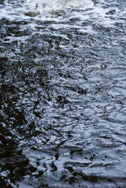 Troubled water: dark rippled water