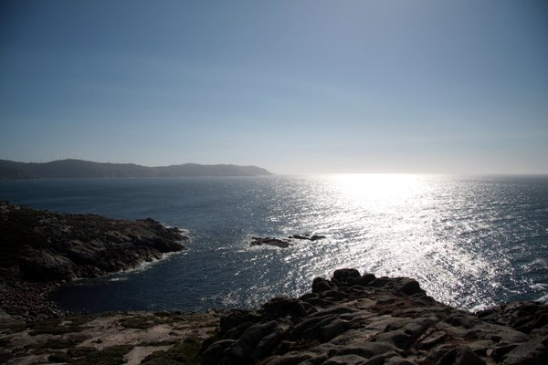 Rocks & Golden ocean 1: Rocks & Golden ocean in death coast, Coruña, Galicia, Spain, Europe