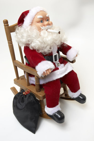 Take five Santa: Santa is taking a well earned break, just chillin!