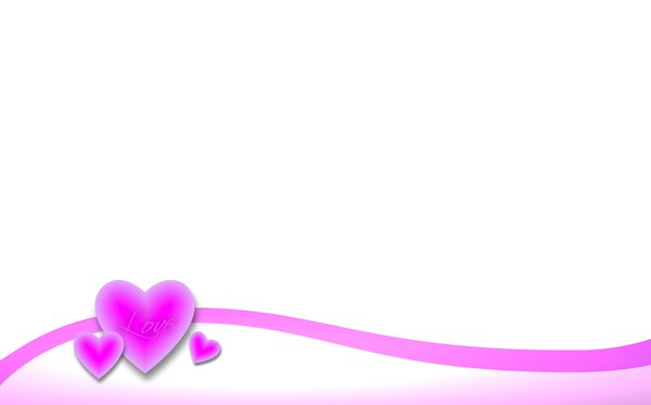 Valentine Background 3: A Valentine border and background with pink ...