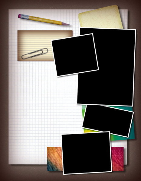 Scrapbook Template: A collage with blank photo frames.Please support my workby visiting the sites wheremy images can be purchased.Please search for 'Billy Alexander'in single quotes atwww.thinkstockphotos.comI also have some stuff atdreamstime - Billyruth03Look for me on Fac