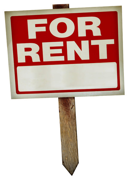 For Rent Sign 2: A couple of variations on a vintage for rent sign.