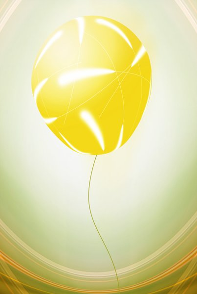 Yellow balloon: yellow balloon illustration
