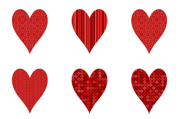 Hearts Pattern: A pattern of hearts, representing love or romance. Suitable for Valentine's Day, Anniversaries, weddings, Mothers Day, Birthdays. You can replace the patterns with your own images to make heart frames.
