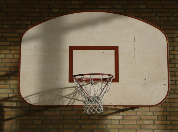 Basketball 1: Basketball basket in a gym