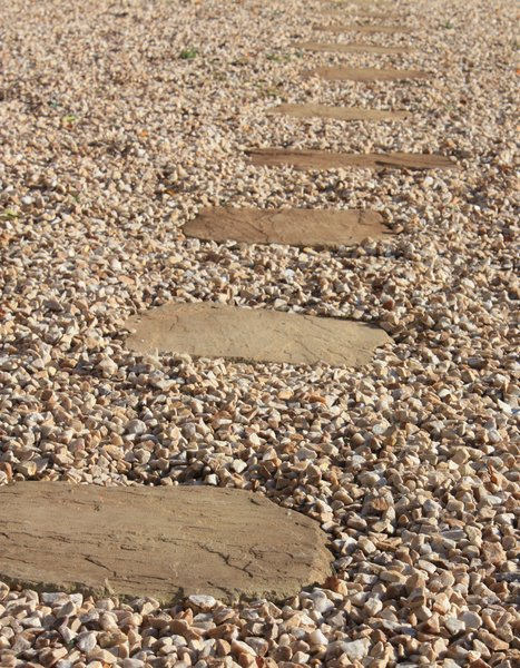 Stepping Stones: Path made from stones set in gravel