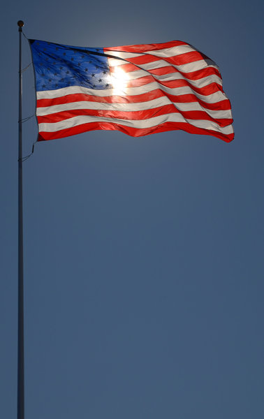 American Flag: An Americal flag.