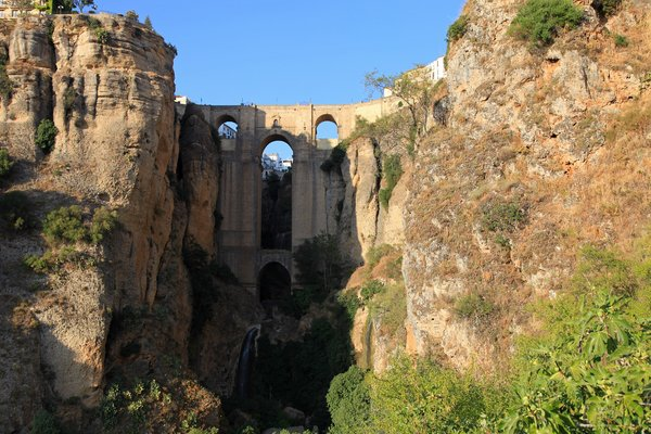 Ronda's bridge: Stone bridge over El Tajo in Ronda, Spain