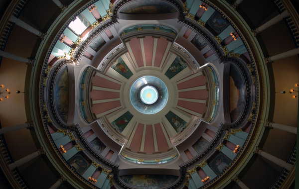 Dome: A dome in a building.