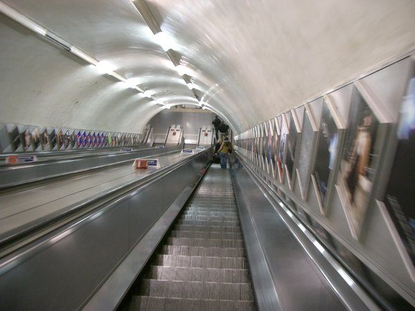 london underground: well, an escalator. :)