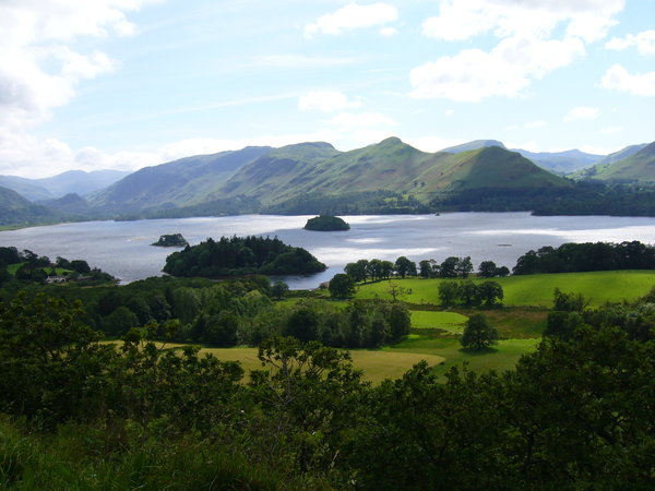 Derwentwater, Lake District 1: A tranquil view of Derwentwater, near Keswick in the Lake District.