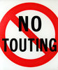 no touting