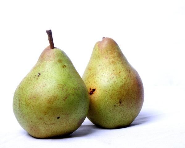 Two Pears: Two pears with a white background
