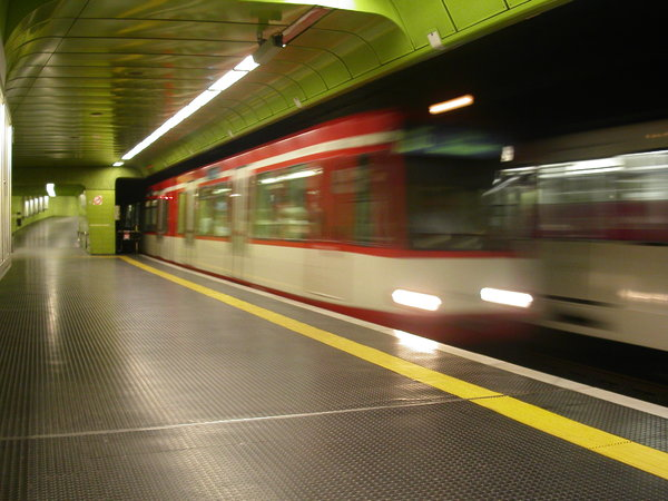 RedSubway: Shot taken in a Metro-station in Bonn/Germany.