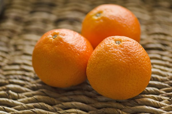 tangerines: three tangerines