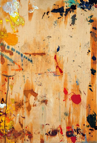 Painted wood: Painted wood texture with stains.