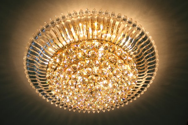 crystal chandelier: a crystal chandelier