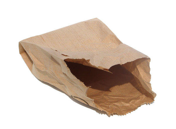 empty paper bag: none