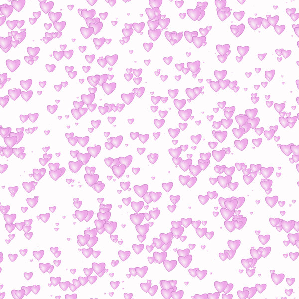 Lots of Hearts 1: Lots of Valentine hearts against a white background for a texture, background, backdrop or fill.