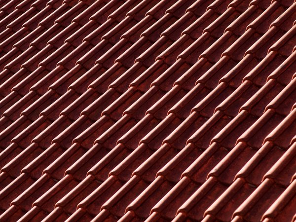 Texture - Roof tiles: Roof tiles in sunlight.